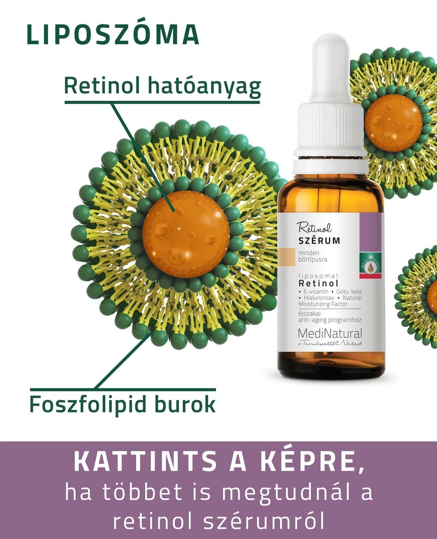 Liposzómás retinol szérum-stabil