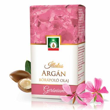 MediNatural illatos Argán - geránium bőrápoló olaj  (20ml)