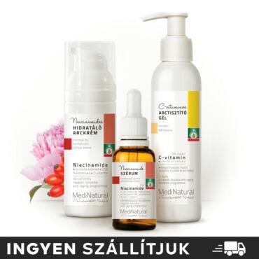 Niacinamidos bőrtökéletesítő arcápoló csomag