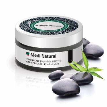 Arcpakolás - zsíros bőrre | Teafaolajos mattító, tisztító  krémpakolás